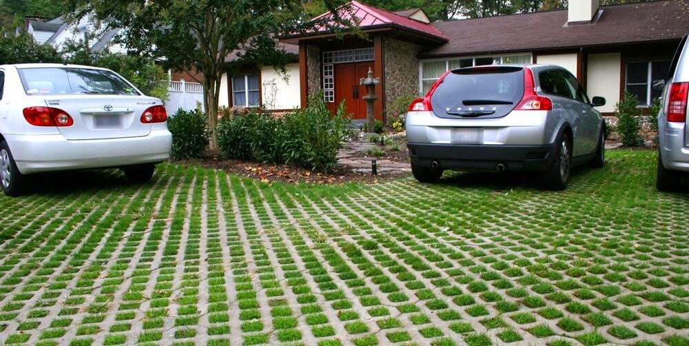 paving grass block png