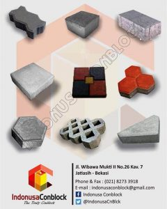 jenis paving block ukuran