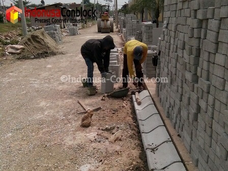 pemasangan kanstin beton