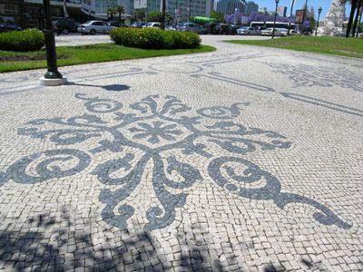 Desain Paving Block Mosaik