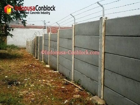 jual pagar panel beton terpasang
